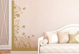 Floral Design Corner Wall Sticker Decorative Vinyl Decal - Wall design decals