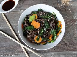 cuisine chou nouilles soba au chou chinois carotte et gingembre la cuisine d
