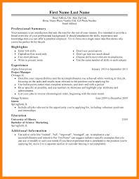 100 Successful Resume Templates Homely by Short Resume