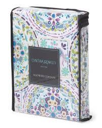 Cynthia Rowley Drapery Amazon Com Cynthia Rowley Fabric Shower Curtain Happy Elephant