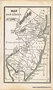 Map Of Middlesex County Nj Antique Maps And Charts U2013 Original Vintage Rare Historical