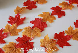 fall garland fall garland with leaves a fall craft for fall decorations