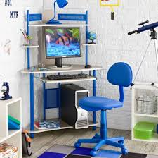 corner desk chair furniture modern blue and white corner kids computer desk and