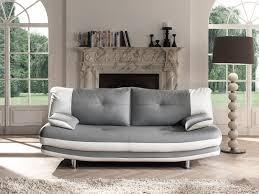 canape gris et blanc canapé fixe design 3 places en pu coloris gris blanc felicia