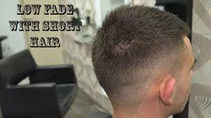 low fade with short hair men u0027s haircut youtube