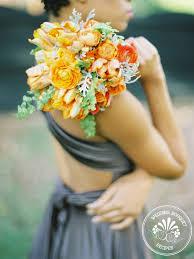bridesmaid bouquet tangerine bridesmaid bouquet