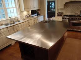 stainless kitchen island kitchen stainless steel tile countertop edging ice maker microwave