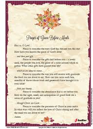 extended prayer of grace before meals for thanksgiving