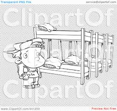 Cartoon Bunk Beds by Royalty Free Rf Clip Art Illustration Of A Cartoon Black And