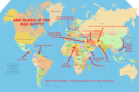 Alaska Russia Map by And Russia Is The Bad Guy Map Of U S Created Chaos Since 2001