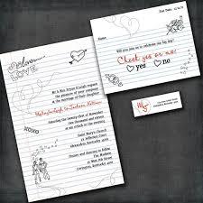 grade sweethearts note wedding invitations love
