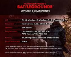 pubg requirements alpha 2 test update 1 playerunknown s battlegrounds wiki
