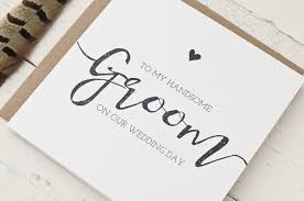card from to groom to my handsome groom on our wedding day card by wolfe paper