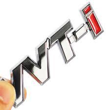 logo toyota yaris 2017 metal vvt i vvti logo chrome silver strip car fender sticker