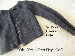 oh you crafty gal how to defuzz your sweaters and to stop sweater