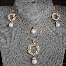 necklace pendants australia images New arrival simulated pearl jewelry set gold filled australia jpg