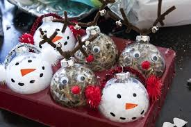 clear glass ornaments craft ideas rudolph and snow clear