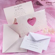cheap wedding invites unique modern deco heart laser cut tri fold affordable wedding