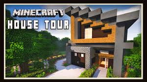 Modern Houses Minecraft Minecraft Awesome Modern House Design Tour Youtube