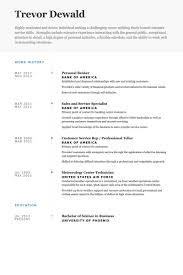 Air Force Resume Samples by Opulent Ideas Personal Banker Resume 8 Personal Banker Resume