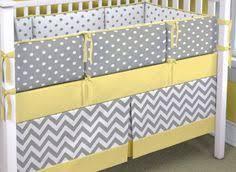 Yellow Crib Bedding Set Vintage Baby Bedding Crib Set Yellow Gray Grey