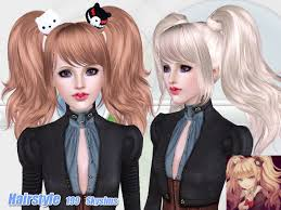 sims 4 custom content hair the sims resource tsr anime hair 199 by skysims sims 3