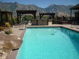 Backyard Pool And Basketball Court Utah Backyard Playgrounds Trampolines In The Ground Rock Water