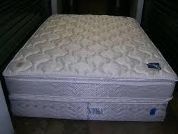 queen size pillow top serta perfect sleeper mattress u0026 box spring