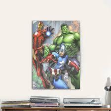 marvel avengers canvas wall art walmart com