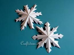paper craft dimensional paper snowflakes