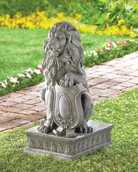 lion garden statue statues and garden sculptures free shipping bargain bunch