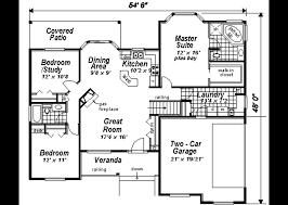 housing blueprints floor plans ranch style house plan 3 beds 2 00 baths 1511 sq ft plan 18 1057