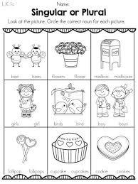 plural worksheets for kindergarten worksheets