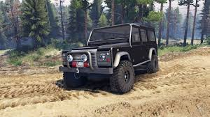land rover defender 2015 black land rover defender 110 black for spin tires
