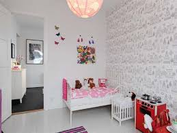 cute scandinavian wallpaper for girls room and pendant lamps rukle