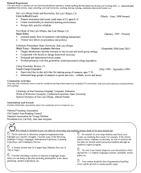 some exle of resume free sle resume exle