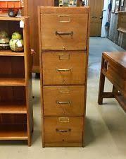 Oak File Cabinet 4 Drawer Oak File Cabinet Ebay