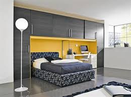 Rustic Modern Desk by Bedroom Wooden Computer Desk Contemporary Leather Wall Bed Modern