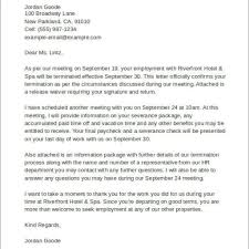 Termination Of Employment Letter From Employer by Sample Letter For Termination For Just Cause Name Of Manager Title