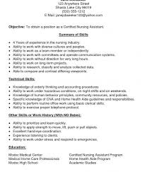 Hha Resume Samples Nursing Assistant Resume Examples Resume Example And Free Resume