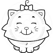 Cute Black And White Wallpapers by Cartoon Cute Cat Smiling Black And White Line Art By Cory Thoman