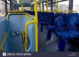 London Bus Interior London Bus Interior With One Passenger London England Uk Stock