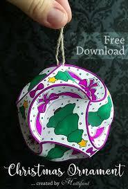 hattifant christmas triskele paper globe set origami ball freebie