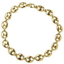 large gold link necklace images Gucci alligator finish large gold ball necklace for sale at 1stdibs jpg