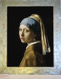 painting girl with a pearl earring vermeer s the girl with the pearl earring plastered