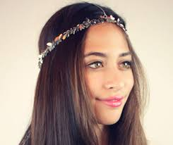 hair chains chain headpiece chain headdress chain silver leaf lovmely