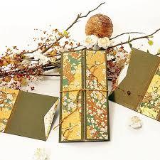 wedding invitations japan wedding invitation of japanese inspiration golden green