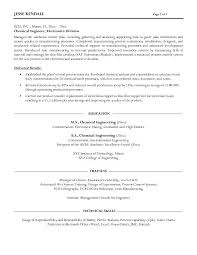 Sample Engineering Resume by Pleasurable Design Ideas Chemical Engineer Resume 2 Click Here To