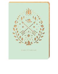 portico design sagittarius zodiac mint a6 notebook notebooks