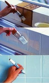 kitchen tile paint ideas how to paint bathroom tile the right way update the powder room
